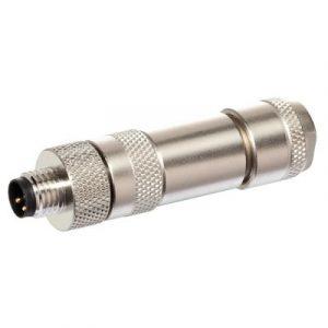 M8 Konektor – muški ravni, 3-polni, screw, shielded