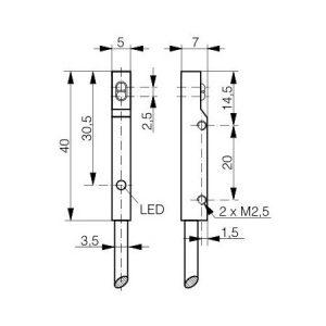 Difuzni senzor 5x7x40