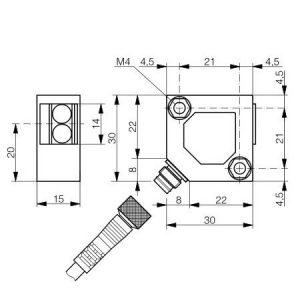 Difuzni senzor 30x30x15