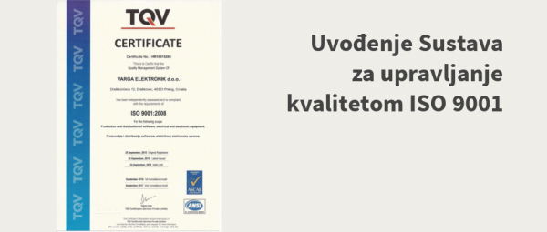 ISO 9001 u tvrtki Varga Elektronik