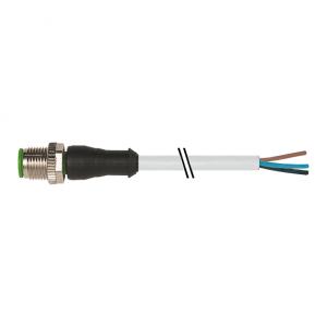 M12 Konektor – muški ravni, sivi, 3-polni
