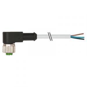 M12 Konektor – ženski pod kutom, sivi, 3-polni