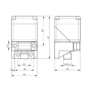 Senzor Classics 40×40 NPN NO + NC