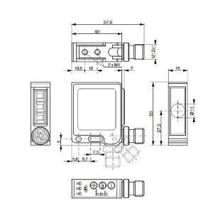 Difuzni senzor boje 40x50x15
