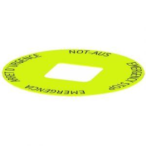 Žuta pločica s oznakom s četverojezičnim otiskom