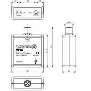 USB adapter 67x66x28