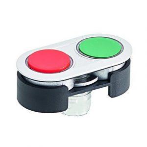 Dvostruko tipkalo sa svjetlećim prstenom i visokom crvenom lećom – RRJDTLRHGR