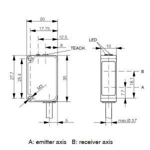 Transparentno refleksivni senzor 20x30x10