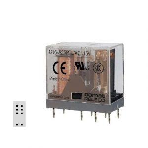 C16-A25PTL, 2 pola, 8-pin, preklopni kontakt, 5mm grid