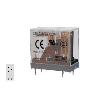C18-A15PT, 1 pola, 5-pin, preklopni kontakt, 3mm grid